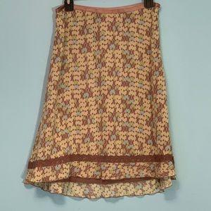 Sigrid Olsen layered Flowy Skirt size 4P